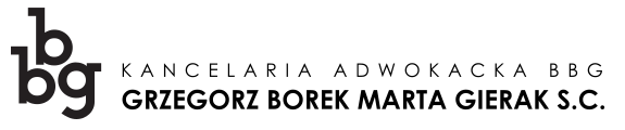 Kancelaria Adwokacka BBG Grzegorz Borek Marta Gierak s.c. Logo
